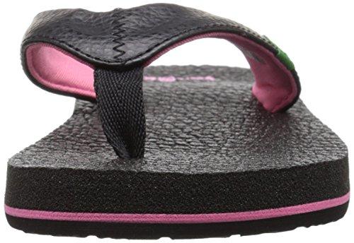Sanuk Yoga Mat Kids 29418140 Mädchen Zehentrenner Black/Pink
