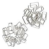 B Baosity 40er Metall Verstellbarer Gurtschieber Gürtelschnalle Buckle Connector Schnalle für Gürtel Band Taschengurt
