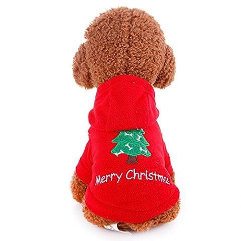 Winter Warm Hund Pet Kleidung Weihnachten Santa Claus Print Coat, Hoodie Hund Pullover Festival (Hund Tragen Weihnachten Kostüm)