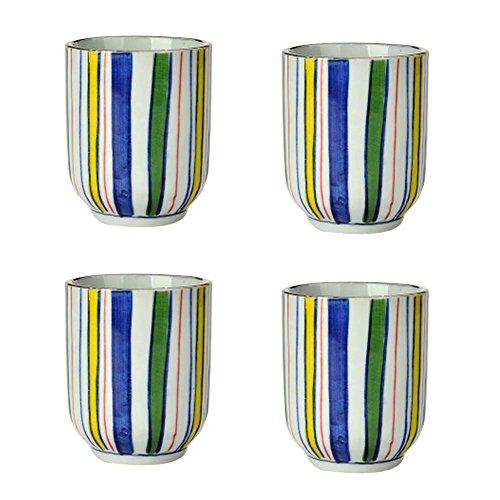 Ensemble de 4 tasses à thé en céramique style japonais Creative Teacups petites tasses à thé [C]