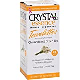 Crystal Body Deodorant Biodegradable Deodorant Towelettes Chamomile & Green Tea