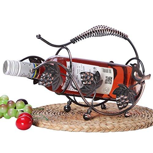 Xuanku Kreative Weinregale Handwerk Verzierungen Europäischen Wein Rack - Handwerk Wein Rack Kabinett Dekoration Dekoration Inneneinrichtungsgegenstände,Bronze