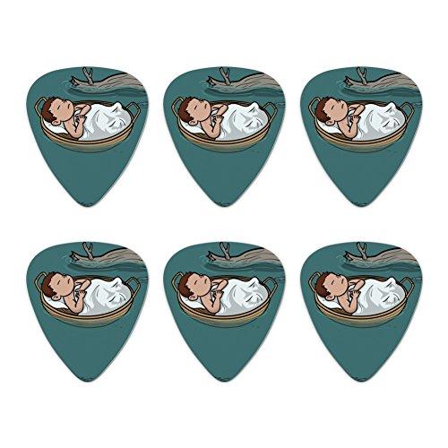 Baby Moses in a Basket Christian Neuheit Gitarre Plektrum Plektron Picks Stärke Medium–Set of 6
