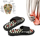 ADAHX Acupoint Massage Slippers Sandal for Men Feet Chinese Acupressure Therapy Medical Massaggiatore Rotante del Piede Scarpe Unisex,44/45