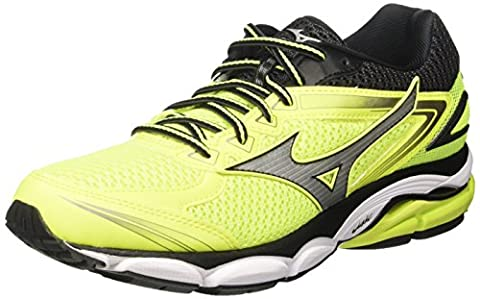 Mizuno Wave Ultima, Chaussures de Running Homme, Multicolore (Safetyyellow/Silver/Black), 43 EU
