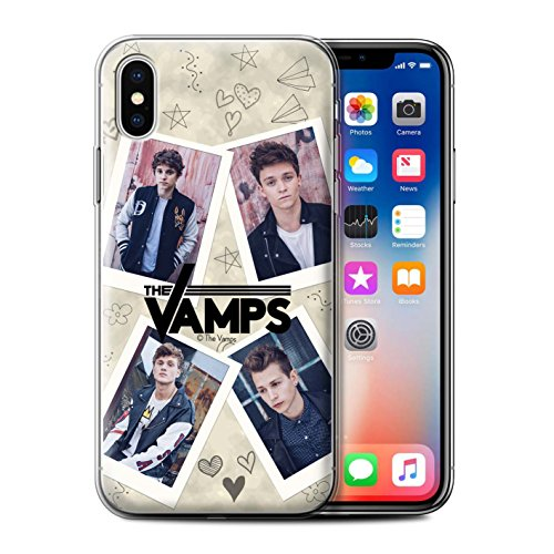 Offiziell The Vamps Hülle / Gel TPU Case für Apple iPhone X/10 / Pack 5Pcs Muster / The Vamps Doodle Buch Kollektion Mappe