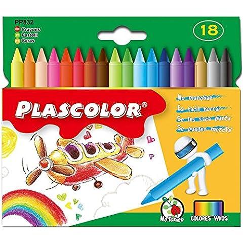 Plascolor PP832 - Pack de 18 ceras