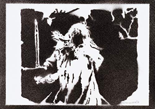 Gandalf Herr Der Ringe (The Lord Of The Rings) Poster Plakat Handmade Graffiti Street Art - Artwork - Poster Herr Der Gerahmte Ringe