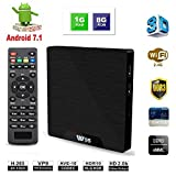 【Android TV Box 7.1】 VV1 TV Max 64 Bit Viererkabel-Kern Intelligenter Fernsehkasten Amlogic S905w mit 1GB RAM 8GB ROM unterstützt 1080p/4K Volles HD