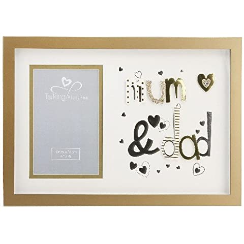 Talking Pictures More Than Words-Cornice portafoto con lettere 3D 'Mum & Dad