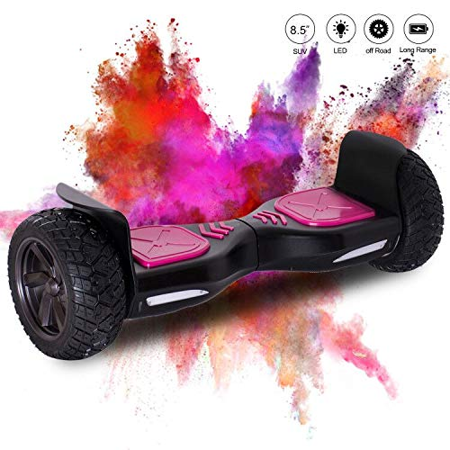 Hover Scooter Board SUV de 8,5 Pulgadas, Todo Terreno 700 W con LED, Equilibrio Automático de Patinete Eléctrico para Niños y Adultos