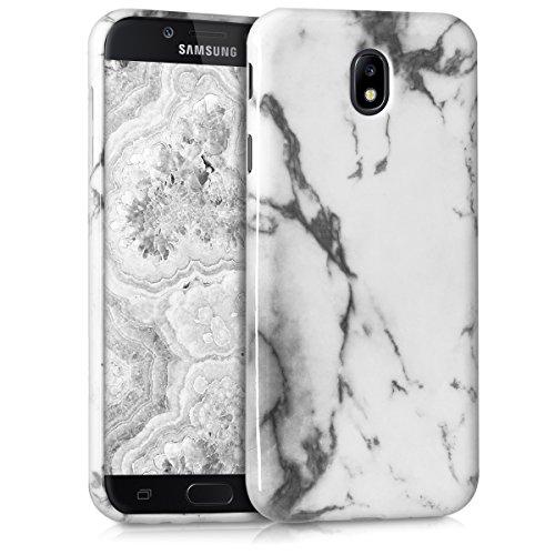 kwmobile Samsung Galaxy J7 (2017) DUOS Hülle - Handyhülle für Samsung Galaxy J7 (2017) DUOS - Handy Case in Weiß Schwarz