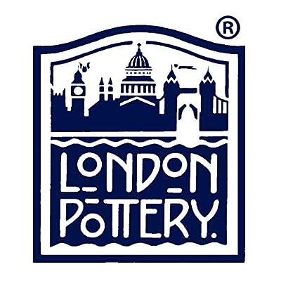 London Pottery 73404 Farmhouse Théière en céramique avec infuseur Motif feuilles