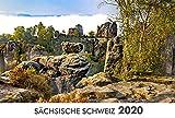 Sächsische Schweiz (Elbsandsteingebirge) 2020: 45x30cm - weißes Kalendarium -