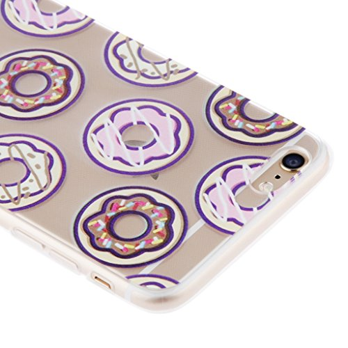 Generic Klar Donut Kreisringmuster Telefon-Kastenabdeckung Shell Für Iphone 6 6s 6 Plus - Für Iphone 6 Plus Color1 Für Iphone 6 Plus Color4