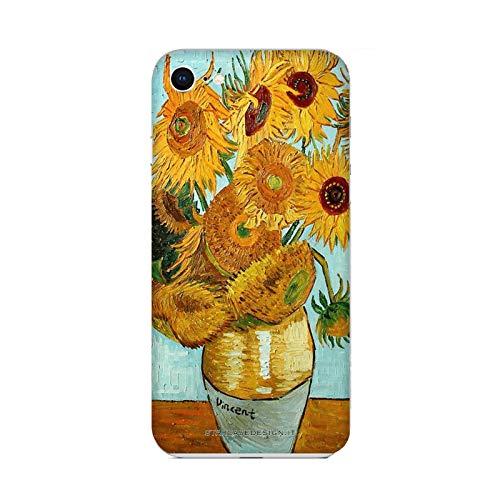 Hülle iPhone 6 Plus Case Apple iPhone 6 Plus Vincent Van Gogh Vase mit Sonnenblumen/Cover Druck auch an den Seiten/Anti-Rutsch Anti-Rutsch Anti-Scratch Schock-resistenten Schutz Schutzulle Starre