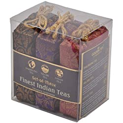 Golden Tips Black Tea, 3-in-1 Darjeeling, Nilgiri & Assam Brocade Bags