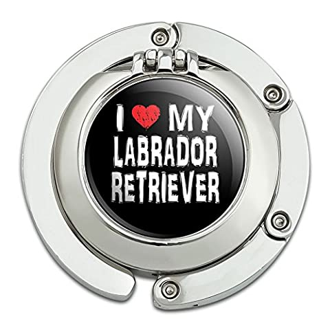 I Love My Labrador Retriever Stylish Foldable Table Bag Purse
