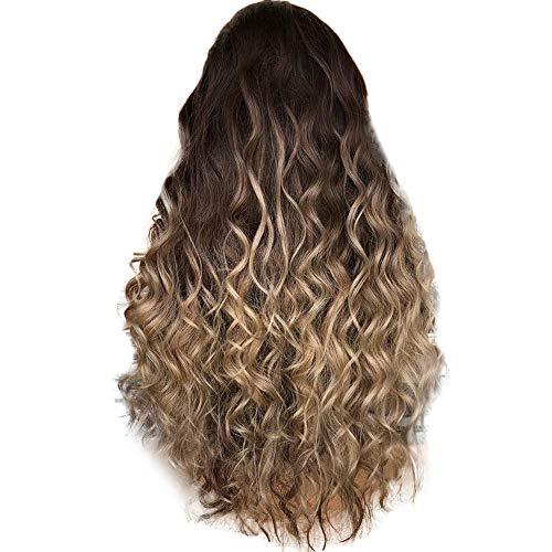 Waselia perücken lange haare locken-perücke braun lang,perucken brazilian human hair, parücken,extensions zopf,zopfgummi,anime,hair,wig,afro,perücken,blond,haarteil,zopf,blonde,lang,curly,