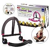 SYOSIN Appareil Abdominaux de Fitness Sport Pliable 10 en 1 Gym à Domicile - Noir