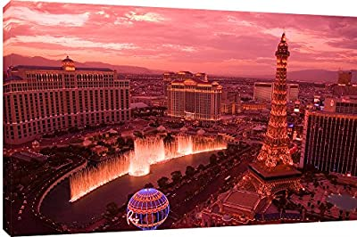 "MOOL ""Las Vegas Sunset"" Canvas Wall Art Print, Multi-Colour, Large, 32 x 22-Inch - inexpensive UK light shop."
