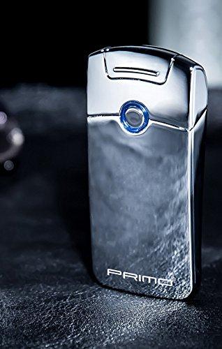 Primo Electric ARC accendino, elettronico USB ricaricabile antivento senza fiamma Plasma Coil accendi sigari Christmas regalo da uomo, Silver