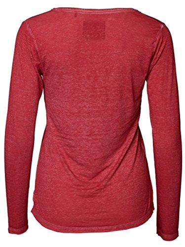 DAILY'S KATJA Langarmshirt mit Schlitzausschnitt au Baumwolle und Polyester - soziale fair trade Kleidung, Mode vegan und nachhaltig Color kir-royale, Size S - 2