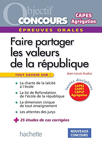 Les valeurs de la République aux concours - Epreuve orale de mise en situation professionnelle