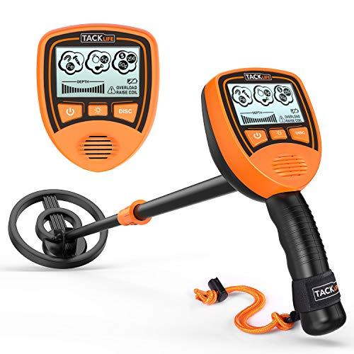 Metal Detector TACKLIFE MMD03 Kinderspielzeug, Dual Mode-Anzeige, LCD-Display und Ton Alarm, Länge verstellbar, wasserdichter Sonde mit Rucksack -