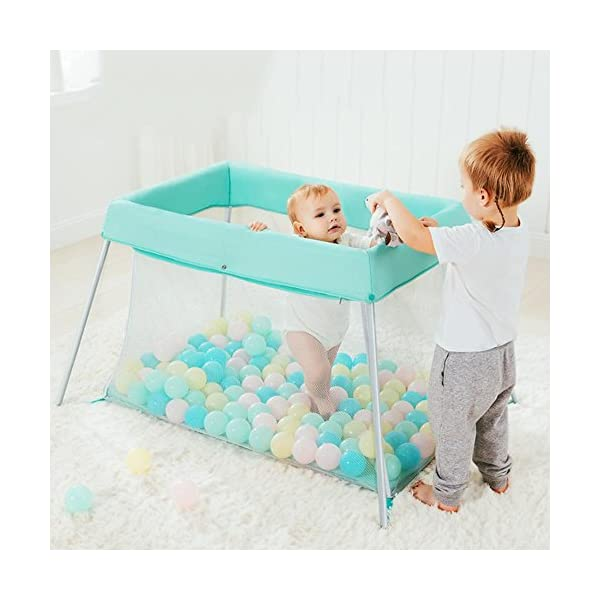 Baby HTTMYY Portable Folding Crib Children Multifunctional Double Layer Travel/Game Bed Baby Size:Game bed inner diameter:1020*600mm;Second floor bed inner diameter: 730*410mm;Folding Size: 600*520*180mm Style: Simplicity, Functions: Portable, foldable, Applicable crowd: 0-2 year old Hammock eccentric zipper design sleek without edges and corners to prevent the baby clip feet clip finger 8