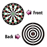 #5: Body Maxx Double Sided Dart Board Game - with Darts - Size 15