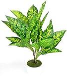 Kunstpflanze im Topf ca.40 cm Büro-Pflanze mit weißen Kunststoff Topf und Kunstgras Kunstblume Dekopflanze (NR-1 7701643)