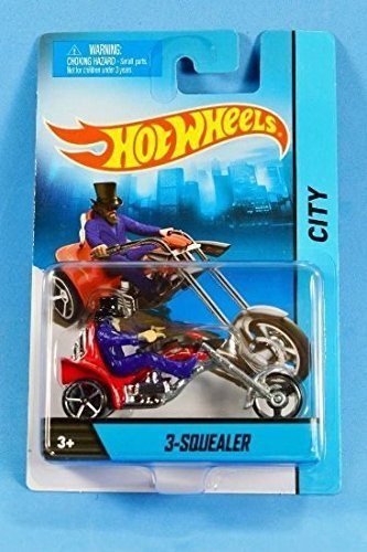 Hot Wheels 3-Squealer City Motorcycle new blue package by Hot Wheels