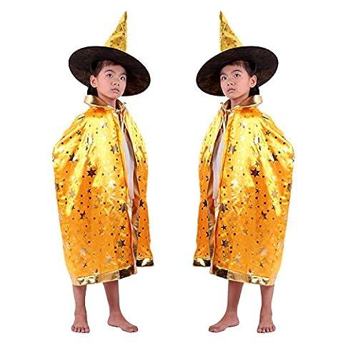 Maquillage Halloween Pour Les Filles - Manteau Enfants + Chapeau pour Halloween, Moon