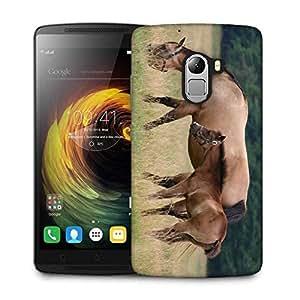 Snoogg Parental Horse Designer Protective Phone Back Case Cover For Lenovo A7010