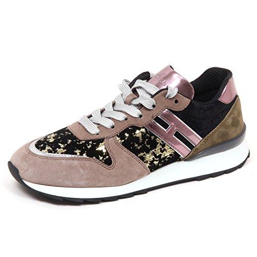 Hogan E0302 Sneaker Donna R261 Leather/Velvet Paillettes Shoe Woman [39]