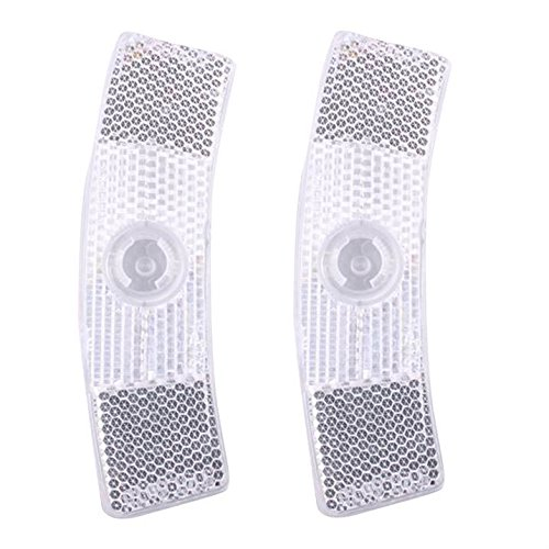 Muddyfox Wheel Reflector Component Parts Cycling Bicycle Bike Riding Accessories White One Size