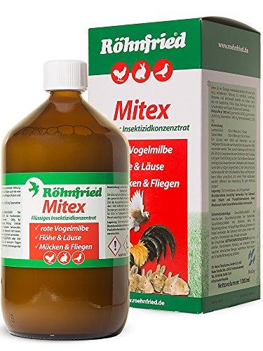 Röhnfried Mitex Insektizid gegen Ungeziefer (1000 ml), flüssiges Konzentrat mit Permethrin als Mittel gegen alle Insekten wie Milben, Ameisen & Flöhe -