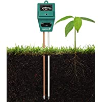 Soil Tester Meter, Fosmon 3-in-1 pH Meter, Terreno Tester del Tester Suolo Sensor per Moisture Umidità, Light, & pH Level Measurement per Growning Giardino, Lawn, Fattoria, Piante, Fiori, Verdure, Erbe & More