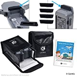 Travel Safety Pack for DJI Mavic Pro - For 4 Batteries - Includes: 2x LiPo Safety Bag, 4x Battery Port Cover, 1x Charge Port Cover and Travel Instructions - Ideal Protection Kit for Travel by Airplane