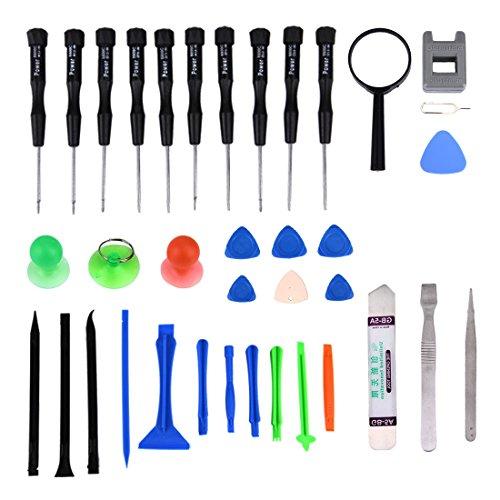 35 in 1 Präzisions Schraubendreher & Reparaturset / Werkzeuge für Smartphone Tablet Laptop Kleinelektronik -