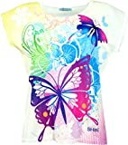 Guru-Shop Psytrance T-Shirt, Yoga T-Shirt, Retro T-Shirt, Damen, Schmetterling, Synthetisch, Size:38, Tops, T-Shirts, Shirts Alternative Bekleidung