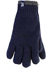 Men's Heat Holders Tog Contrast Trim Heat Weaver Winter Warm Thermal Gloves