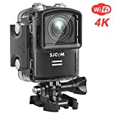 SJCAM M20 Wifi Action Kamera 16MP 4K/24FPS Mini Wasserdichte Unterwasser Cam, Remote Control/Gyro Stabilization/Distortion Correction/Sony Sensor, Wasserdicht Zubehör Kit(Schwarz)