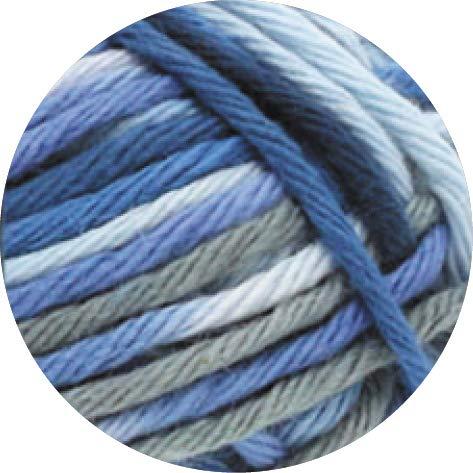 Lana Grossa - Star Print - Fb. 334 weiß/hellblau/Jeans/Marine/dunkelgrau 50 g Lg Star