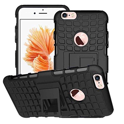 """iPhone 6 Plus Coque AOFad Béquille Vidéo Protection des lourds orange noir Plastique TPU Hybride Antiskid 2 à 1 Série Pour Femme Homme Accessoires Case 5.5"""" Q036 AOFad Style 105"""