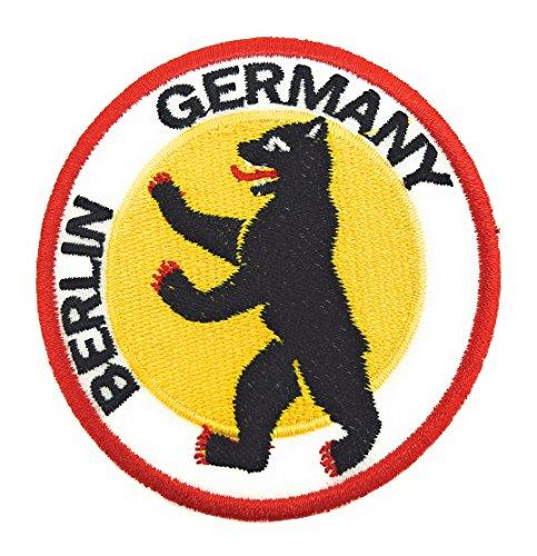 Parche Bordado Termoadhesivo Escudo Berlin Oso 6,5