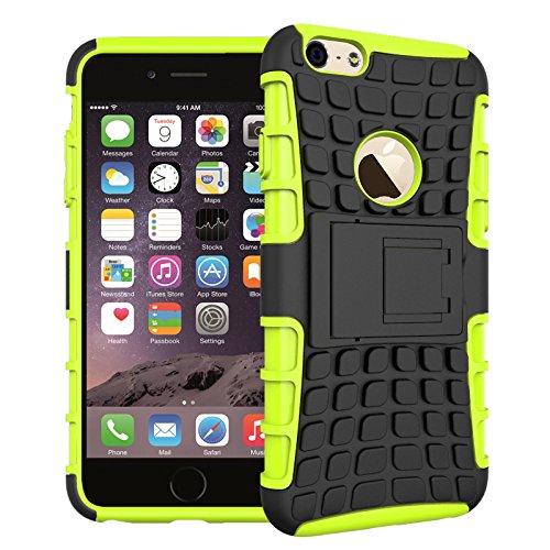 BCIT iPhone 6 6S Cover - Alta qualità Doppio Strato ibrido Cellulari Case Custodia protettivo Per iPhone 6 6S - Porpora Verde