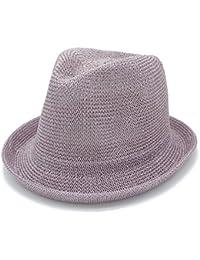 174b9a86ea0 Chenyuying Fashion Women Men Mesh Beach Seaside Sun Hat Gentleman Flat  Homburg Beach Hat Godfather Panama Cap Boater Fedora Hats Dad…