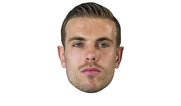 Card Face and Fancy Dress Mask Jordan Henderson Celebrity Mask